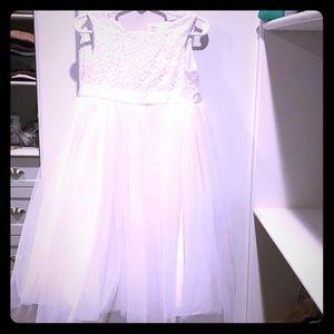 David's Bridal Kids 3T Flower Girl Dress White